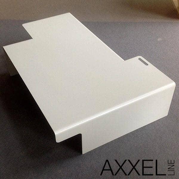 AXXELデザインジェローム-屋内または屋外での使用に適合さ5ミリメートル鋼、120×80センチメートル、、非常に成功した非対称で行われたコーヒーテーブル、 TISON
