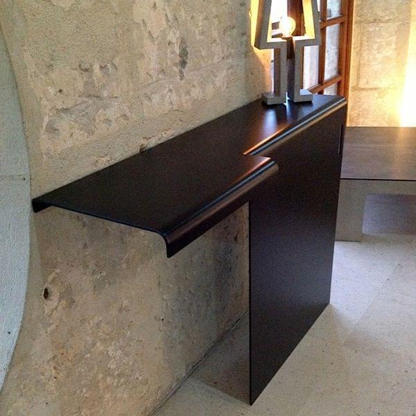 console axxel en aluminium design j r me tison. Black Bedroom Furniture Sets. Home Design Ideas