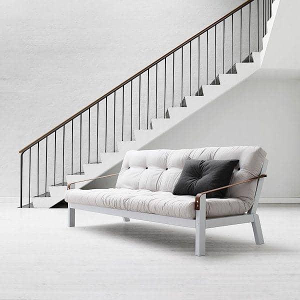POEMS, sofa convertible : une ligne sobre et des détails soignés, un pur design danois. structure bois, futon
