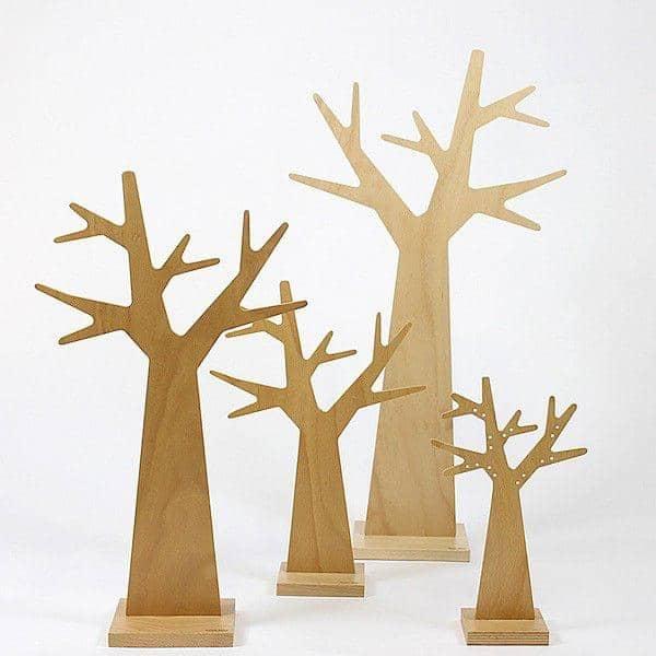 L'ARBRE À BOUCLE D'OREILLES, earring tree, beech plywood, eco-design