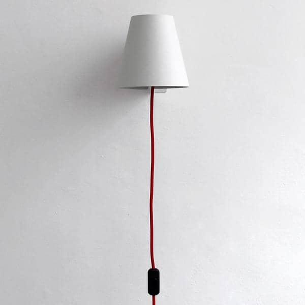 draba applique murale en acier laqu reine m re. Black Bedroom Furniture Sets. Home Design Ideas
