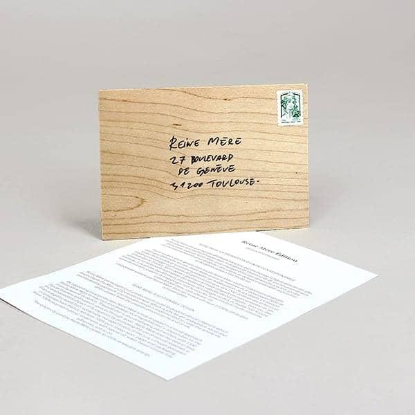 ENVELOPPE EN BOIS, wooden enveloppe, maple, eco-design
