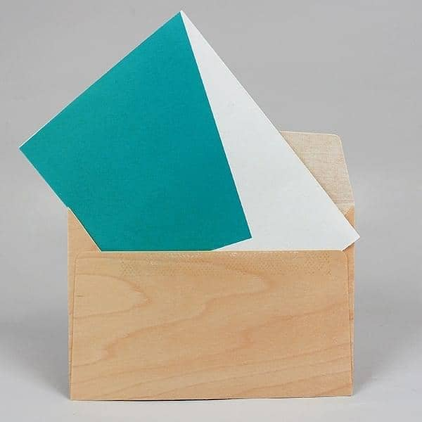 Enveloppe en bois, enveloppe, érable, design éco-responsable