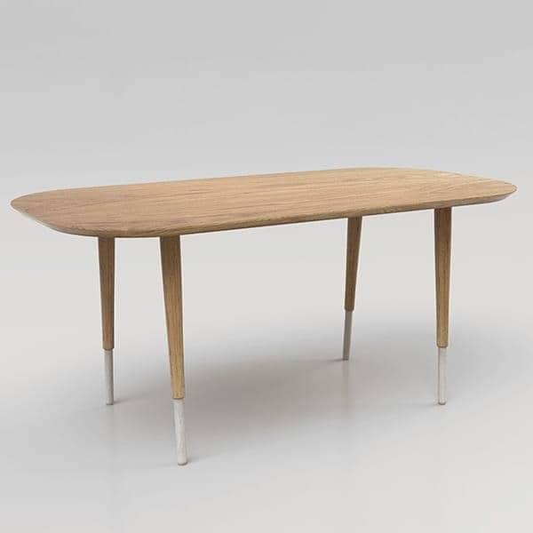 הגדול HEPBURN, שולחן אוכל, עץ אלון מוצק, REINE בלבד HQ-09