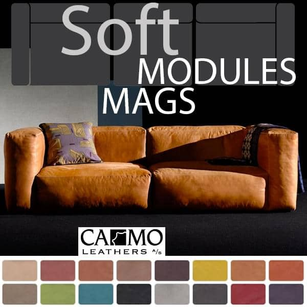Sofa Mags Soft En Cuir Les Modules Hay