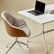 AAT10 rectangular mesa de jantar, madeira compensada, pernas de alumínio, HAY.
