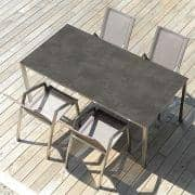 PURO dining tables or coffee table, ceramic version, by TODUS, great choice of dimensions, robust, clean lines: perfect for use on the terrace or in your living room