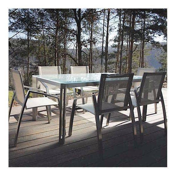 ARIA spiseborde eller sofabord, Clear Glass-version, ved TODUS, stort udvalg af dimensioner, robuste, rene linjer: perfekt til brug på terrassen eller i din stue