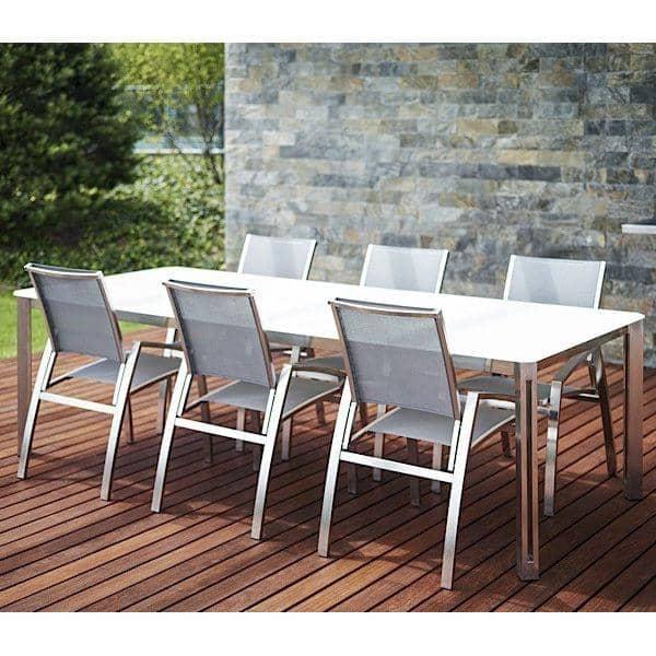 ARIA mesas de jantar ou mesa de café, versão de cerâmica, por TODUS, grande escolha de dimensões, robustas, de linhas limpas: perfeito para uso no terraço ou na sala de estar