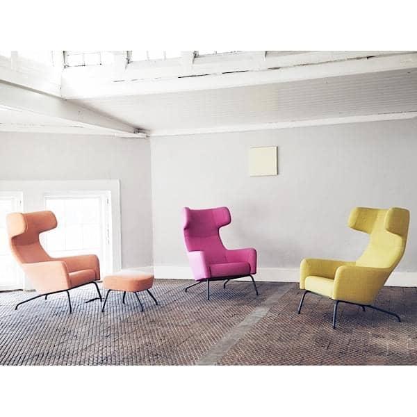 havana fauteuil avec pi tement en acier dossier haut. Black Bedroom Furniture Sets. Home Design Ideas