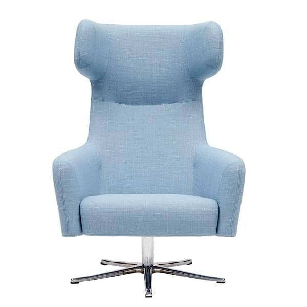 The HAVANA armchair, swivel feet, legendary and dynamic comfort. A very wide range of fabrics and colors
