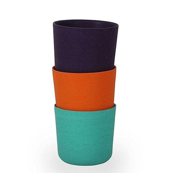 BIOBU cup, set of four cups to choose from 3 colors, bamboo fibre, eco-design