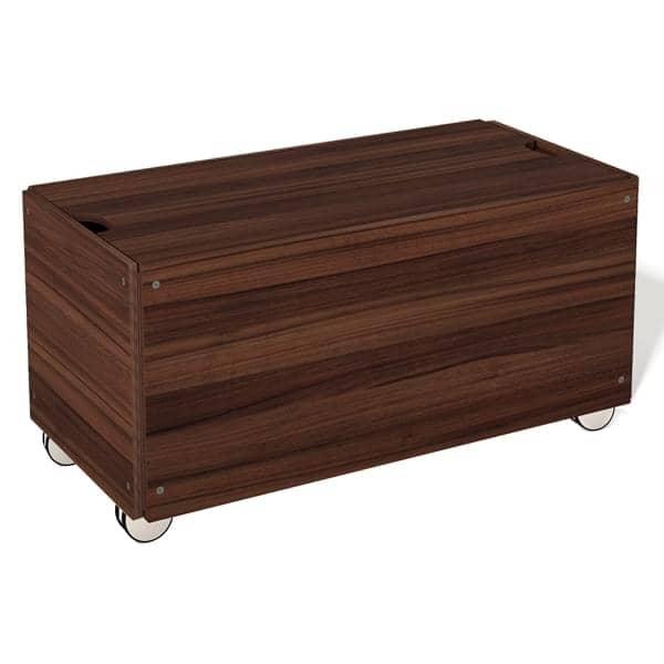 Coffre de rangement STACK, en bois lamellé, haute qualité, nombreuses finitions.