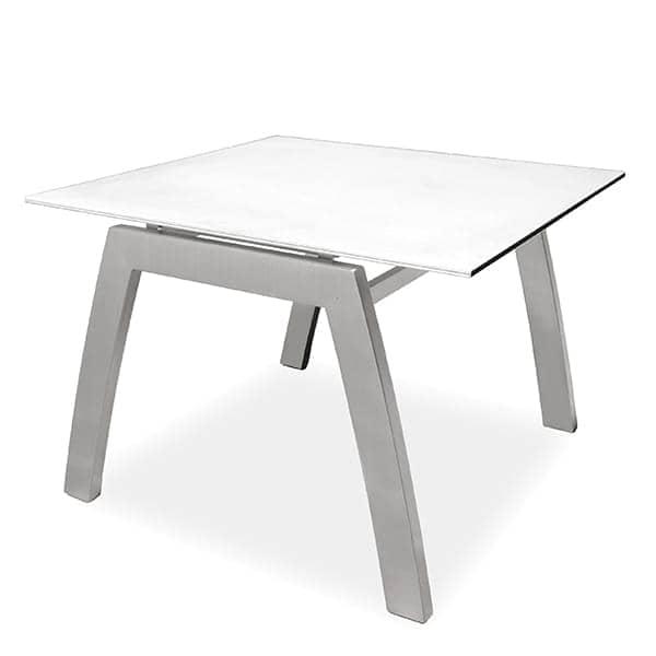 Tavolino FRAMELESS, ALCEDO, struttura realizzata in acciaio inox, piastra superiore in ceramica