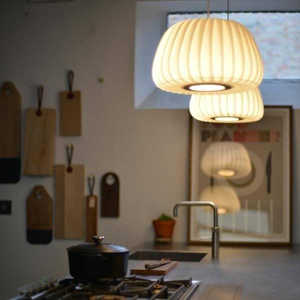 Tom Rossau - TR 19 anheng - bjørke lamellene eller forsterket papir - For mykt lys - deco og design