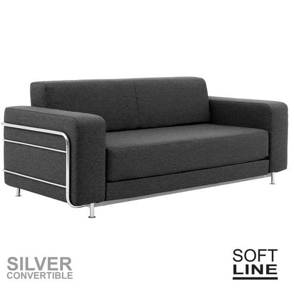 silver a convertible sofa bed for 2 designed for small spaces comfortable timeless in true style