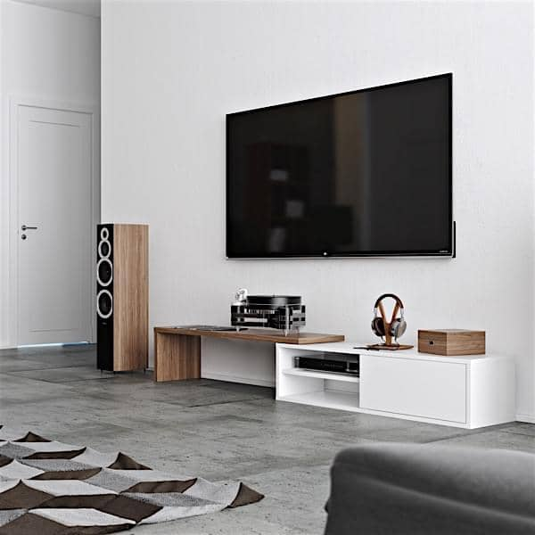 Move an extendable and swiveling tv stand temahome for Le meuble furniture