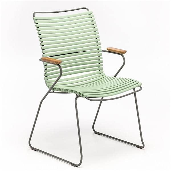 Chaise CLICK SYSTEM, dossier haut, résine et acier, outdoor
