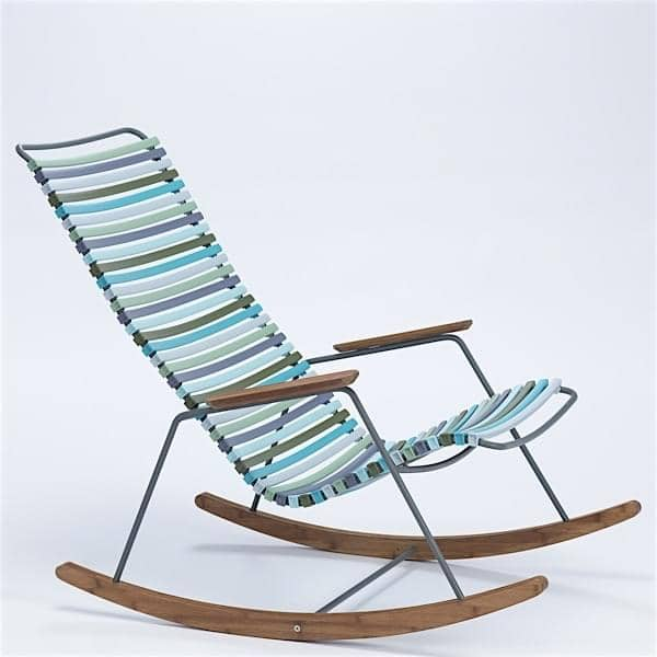 rocking chair click system resin and steel outdoor by houe. Black Bedroom Furniture Sets. Home Design Ideas