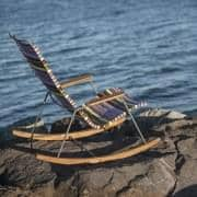 椅子、ロッキングCLICK SYSTEMにより、屋外、樹脂とスチールを、 HOUE