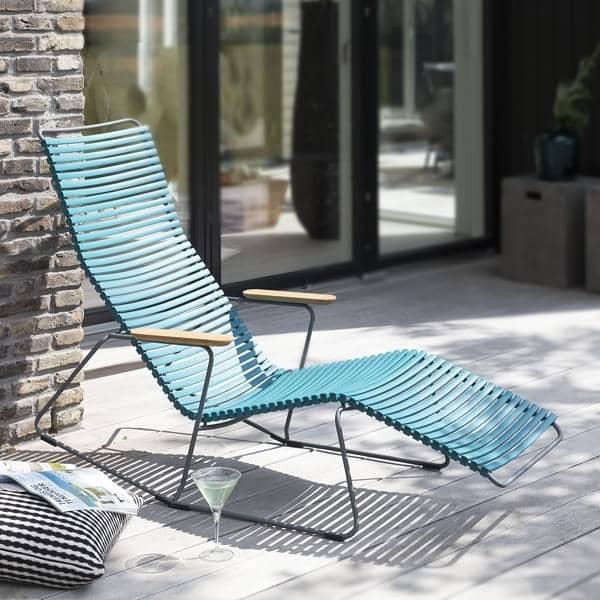 כיסא נדנדת טרקלין, CLICK SYSTEM, שרף ופלדה, חיצוני, על ידי HOUE