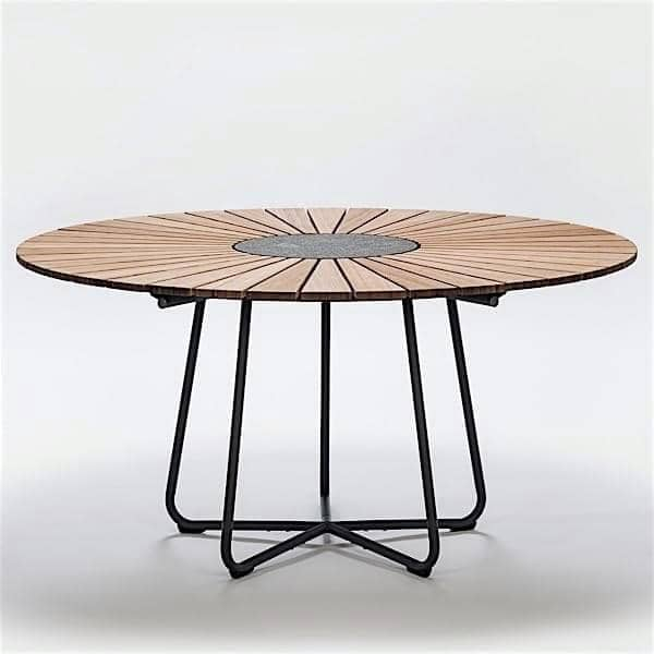 Tavolo da pranzo rotondo circle houe for Tavolo rotondo esterno