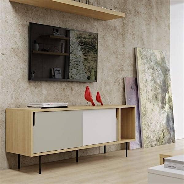 DANN, sideboards with sliding doors, Rodolphe CASTELLANI