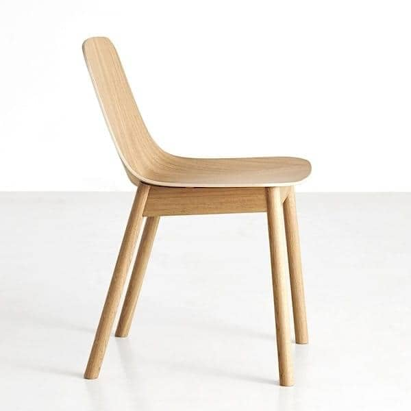 La sedia in legno MONO, WOUD MONO sedia - Quercia, tinto in nero