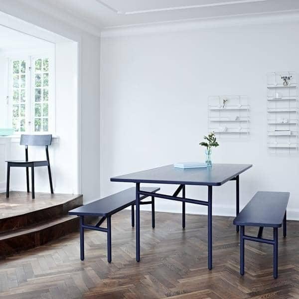 DIAGONALE, un tavolo da pranzo in legno e metallo, WOUD