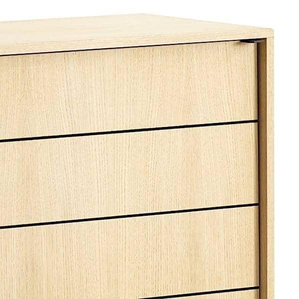 Buffet VIRKA, bois et métal, portes coulissantes