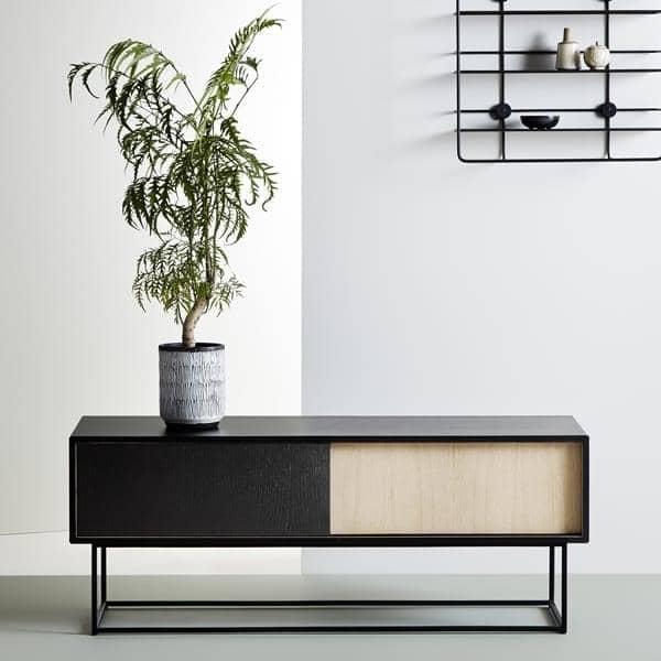 buffet bas, meuble tv, portes coulissantes. woud - My Design Meuble