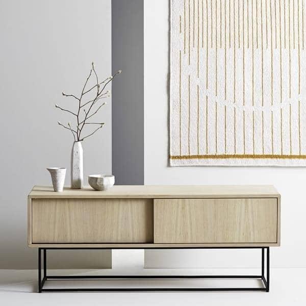 virka, buffet bas, meuble tv, portes coulissantes. woud - My Design Meuble