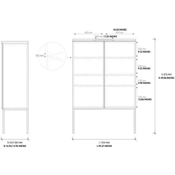Armoire BARN : mobilier scandinave, en bois, la simplicité efficace