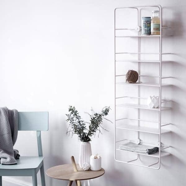 Etagères COUPÉ, en acier noir ou blanc : pour la cuisine, salle de bain, chambres, bureau