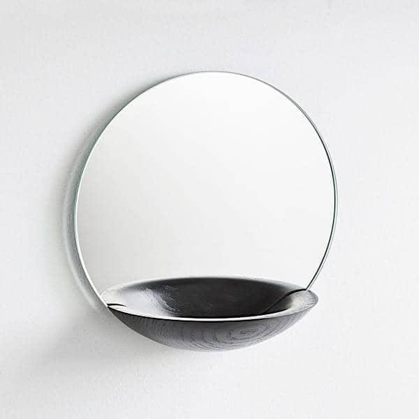 Miroirs design créés au Danemark: miroir TIMEWATCH, miroir de poche, miroir barbe ou de maquillage.