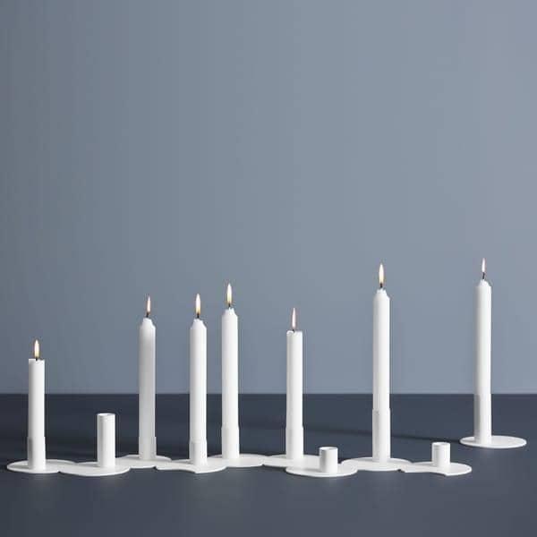 Bougeoir CLUSTER métallisé, design Norvégien