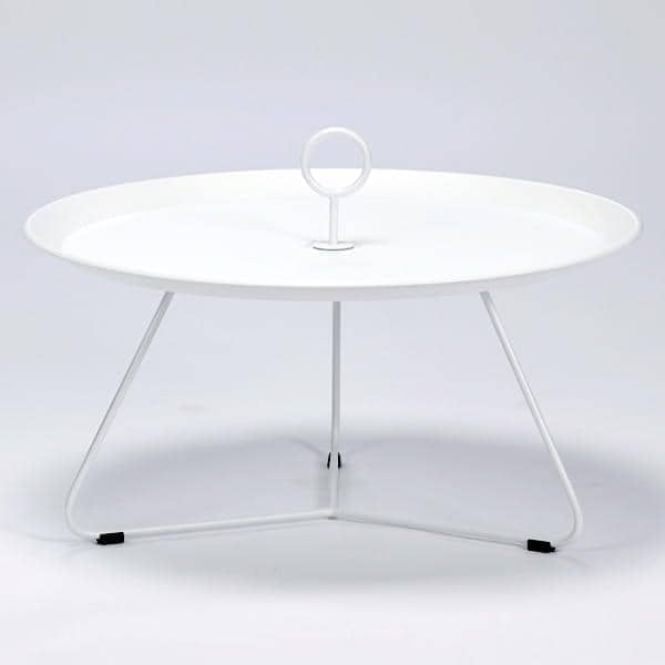 Table d'appoint EYELET, en acier laqué epoxy, par HOUE