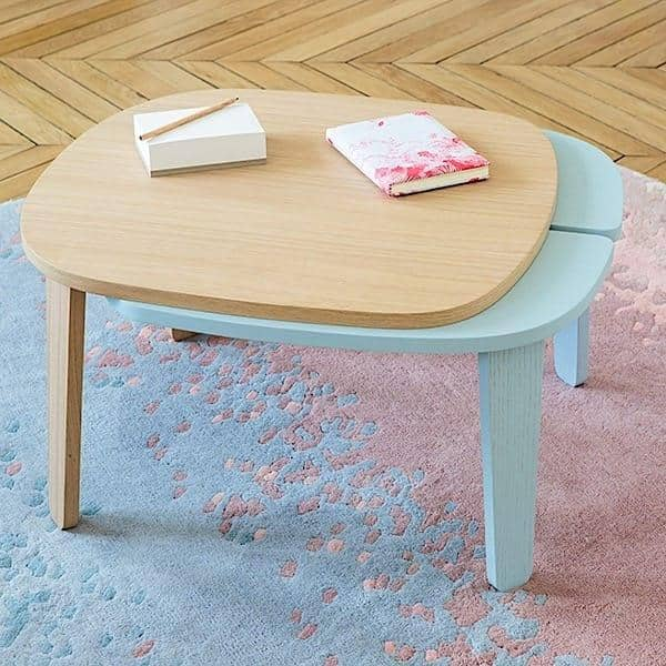 Table basse extensible COLETTE par HARTÔ, plaqué chêne