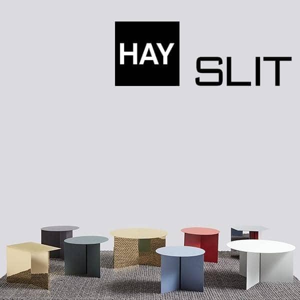 Les tables d'appoint SLIT : rondes, rectangulaires et hexagonales. des coloris et matériaux magnifiques.