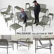 مجموعة PALISSADE - كرسي ، وكرسي ، ومقاعد بار ، وأريكة ، وطاولات ومقاعد - للاستخدام في الأماكن المغلقة أو في الهواء الطلق