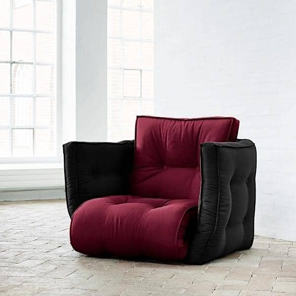 lofty fauteuil futon convertible en lit nordic design. Black Bedroom Furniture Sets. Home Design Ideas