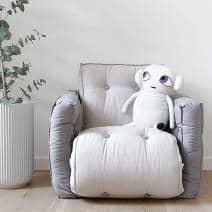 LITTLE LOFTY, futon conversível em uma cama de solteiro ou para duas pessoas, versão infantil: macia, prática e confortável