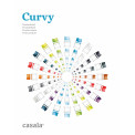 CURVY, טווח של כיסאות ו ספסלים stackable