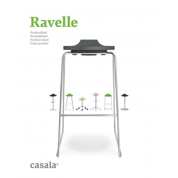 RAVELLE, design e sgabello alto impilabile