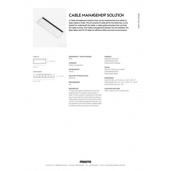 Cable management solution PFS