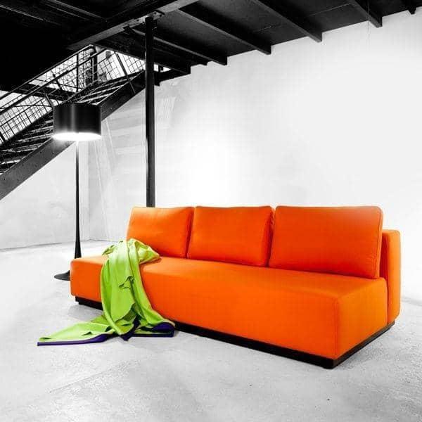 NEVADA, FELT telas: sofá convertible, 2 o 3 juegos, chaise longue y puf: hermosas combinaciones - deco y el diseño nórdico, SOFTLINE