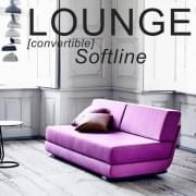 LOUNGEソファ:コンバーチブルソファ、3人用、長椅子:美しい組み合わせ。 SOFTLINE