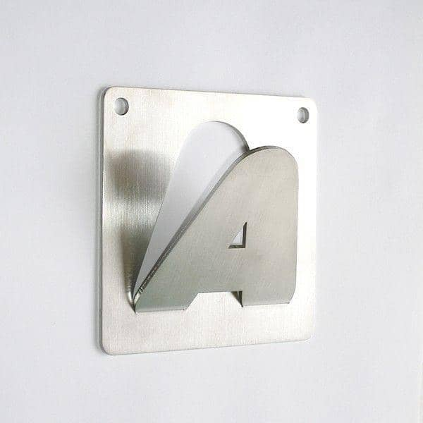 ACCROC Coat peg - stainless LETTERS for hang all your clothes
