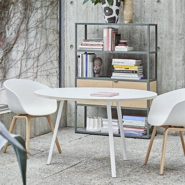 La mesa de comedor redonda LOOP, HAY LOOP mesa redonda, Ø 120 cm ...