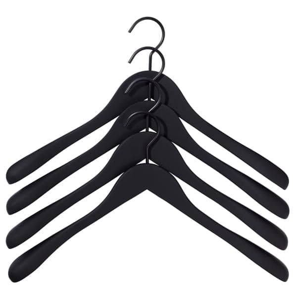 Les cintres bois HAY revêtement caoutchouc mat (4 cintres / boîte). L'accessoire indispensable pour vos vêtements